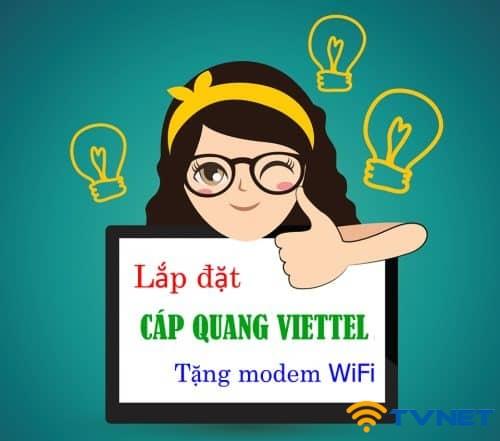 Lắp đặt mạng cáp quang Viettel miễn phí tại TP HCM. Tặng Modem Wifi