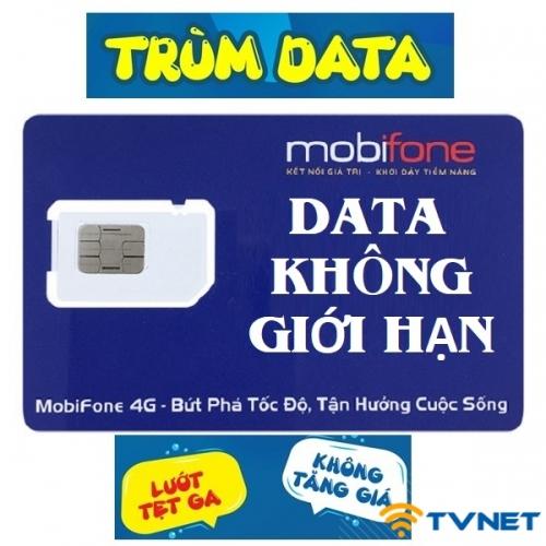 Sim 4G Mobifone Fv119 MAX DATA - Gọi thả ga. Miễn phí 2 tháng