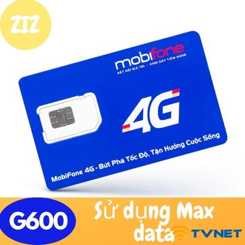 Sim 4G Mobifone MDT120A MAX DATA - Miễn phí 6 tháng