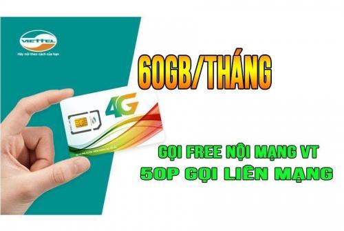 Sim 4G Viettel V90 gọi thoại miễn phí DATA siêu khủng 60Gb/Tháng
