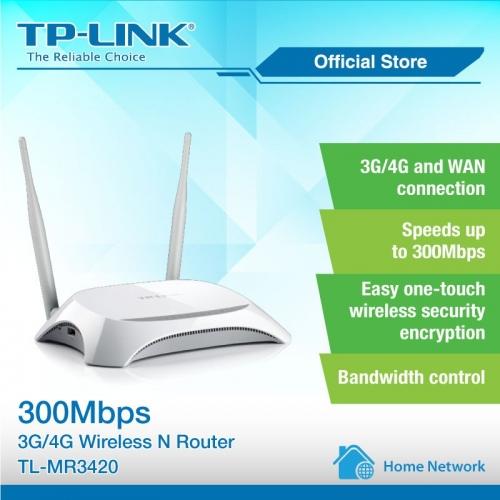 Bộ phát Wifi 3G/4G Tp-link MR3420 hỗ trợ 32 User chuyên dụng lắp cho xe ô tô, xe khách, văn phòng