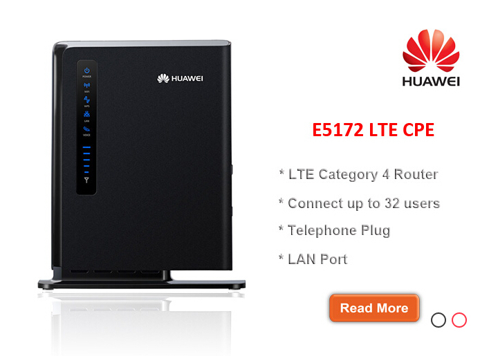Huawei E5172s 22 LTE FDD800 900 1800 2100 2600Mhz TDD2600Mhz Mobile Wireless Router CPE